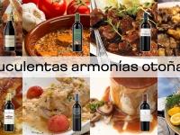 7 suculentas armonías otoñales de vino y plato
