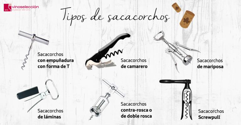 ¿Conoces los distintos tipos de sacacorchos?