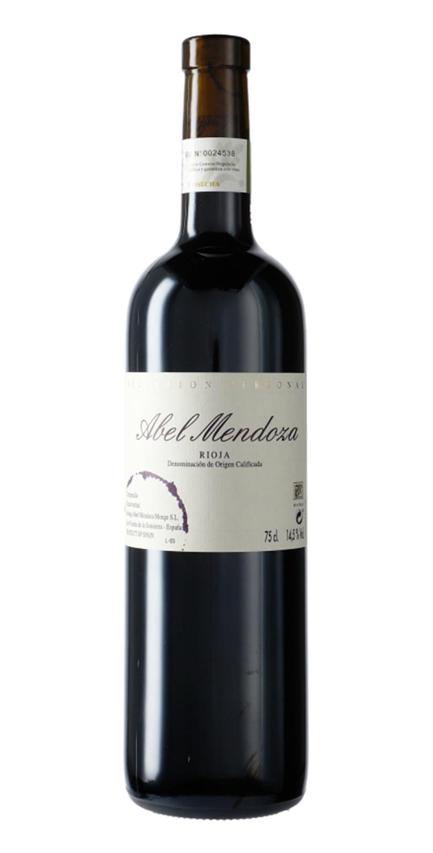 Botella del vino tinto Abel Mendoza Selección Personal 2018