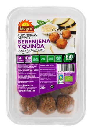 Albóndigas de tofu, berenjenas y quinoa Eco Biográ
