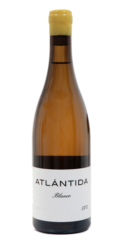 Botella del vino Atlántida Blanco 2019