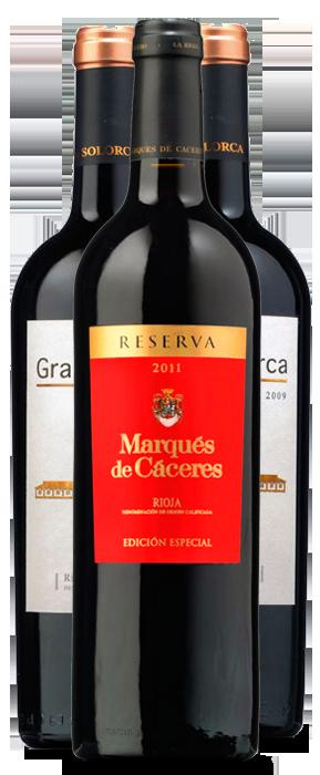 Marqués de Cáceres Edición Especial Reserva 2011, Gran Solorca Reserva 2010 y Gran Solorca Gran Reserva 2009