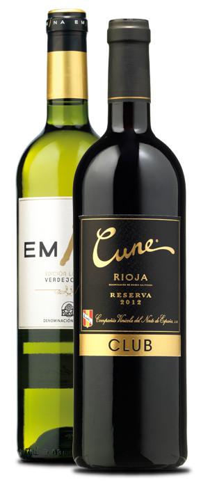 Emina Prestigio Edición Limitada 2014 y Cune Club Reserva 2012