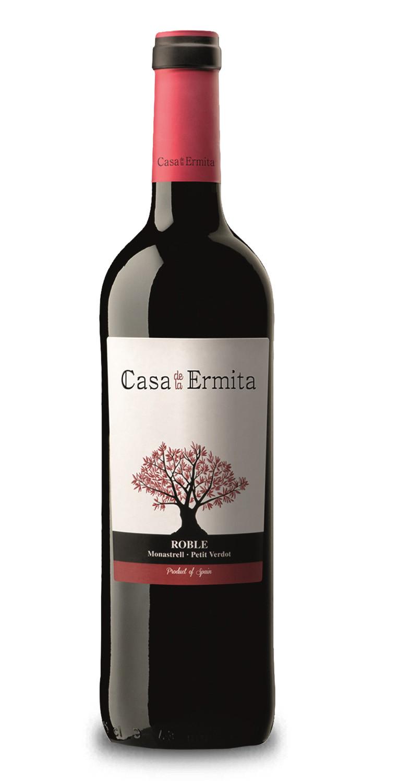 Botella del vino tinto Casa de la Ermita Roble 2020