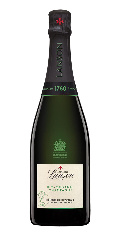 Botella de Lanson Green Label Organic Champán