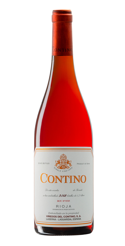 Botella del vino Contino Rosado 2018