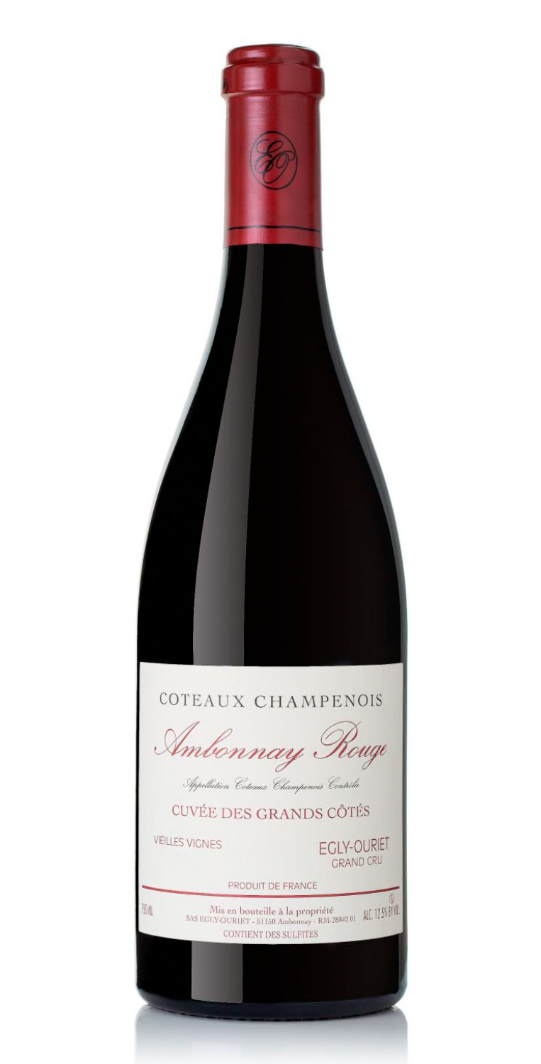 Botella del vino tinto Egly-Ouriet Ambonnay Rouge 2018