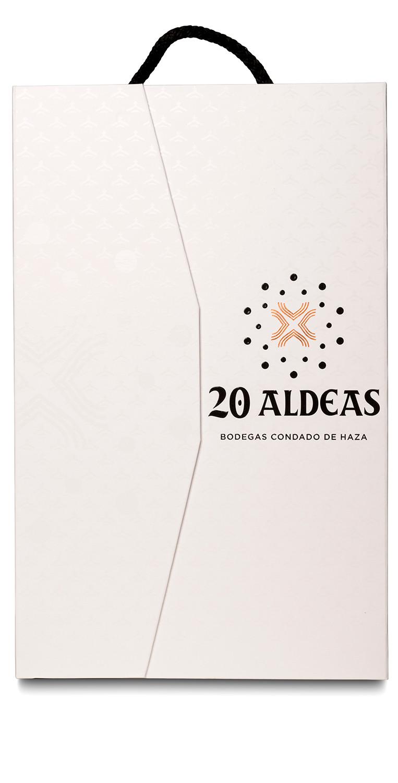 Estuche de dos botellas del vino tinto 20 Aldeas