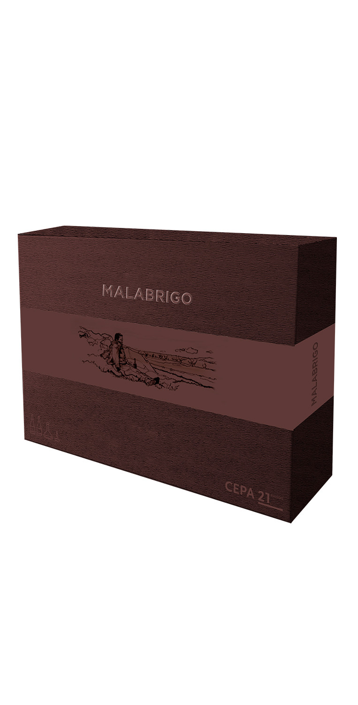 Exterior del estuche de Malabrigo + decantador + sacacorchos
