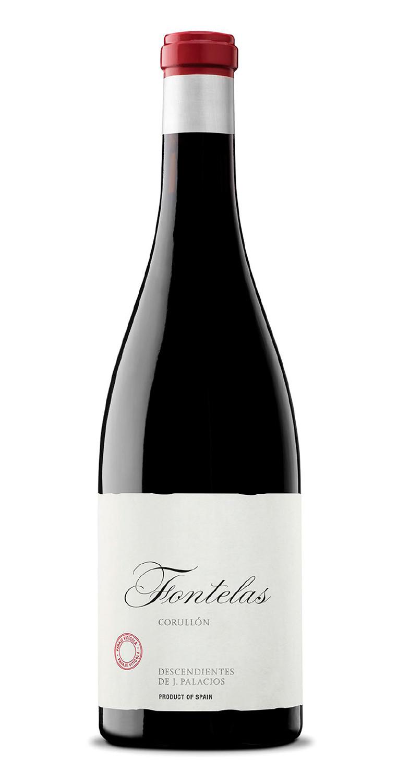 Botella del vino tinto Fontelas 2018
