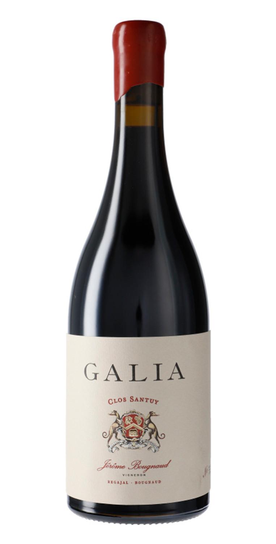 Botella del vino tinto Galia Clos Santuy 2017
