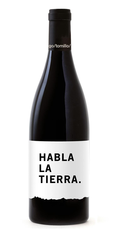 Botella del vino tinto Habla la tierra 2020