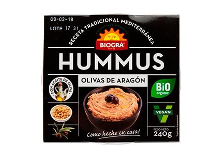 Hummus olivas de Aragón Eco Biográ