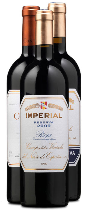 Imperial Reserva 2009, Imperial Gran Reserva 2008 y Contino Garnacha 2011