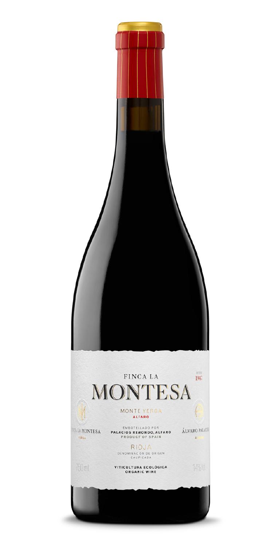 Botella del vino tinto La Montesa Crianza 2018