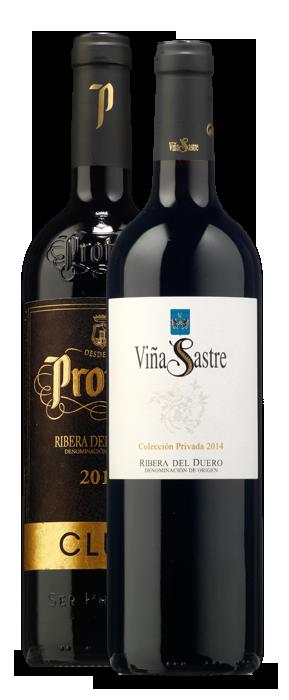 Protos Club Crianza 2013 y Viña Sastre Colección Privada 2014