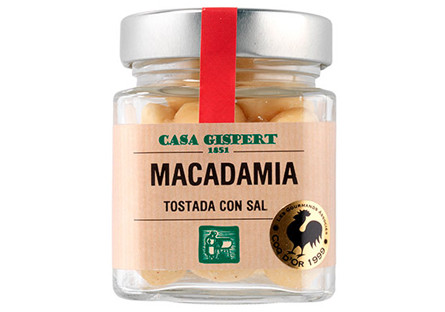Nuez de macadamia tostada con sal