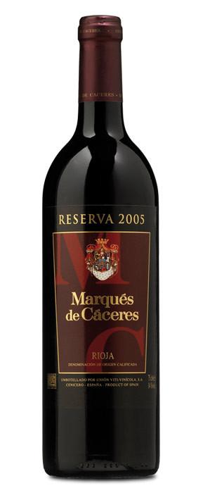 Marqués de Cáceres Tinto Reserva 2005