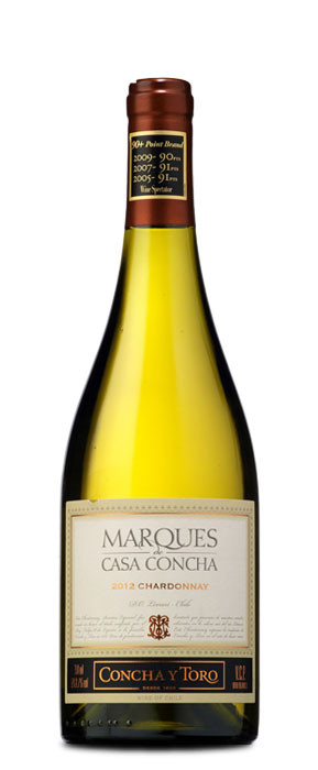 Marqués de Casa Concha Chardonnay Blanco con crianza 2012