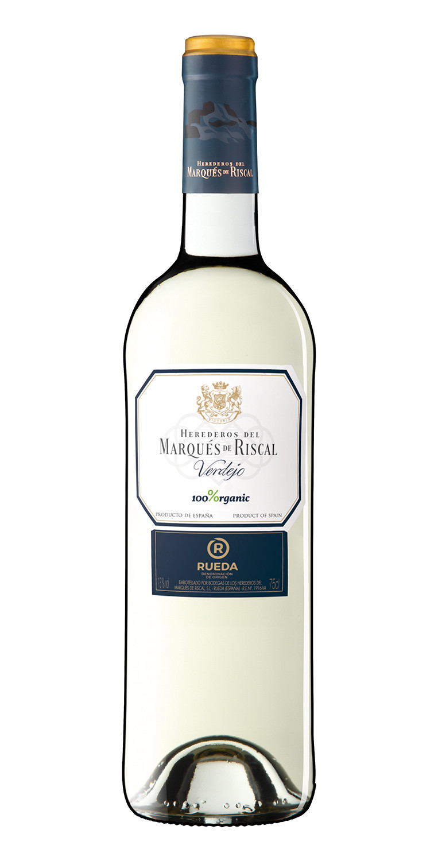 Botella del vino blanco Marqués de Riscal Verdejo 2020