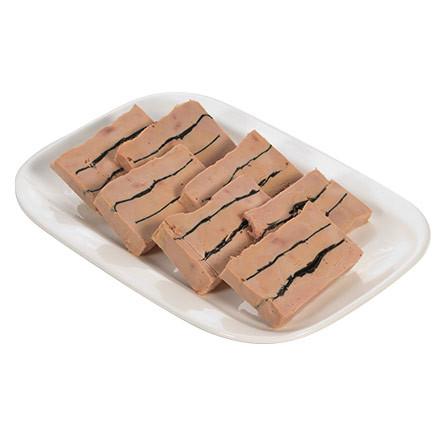 Milhojas de foie gras de oca trufada al 6%