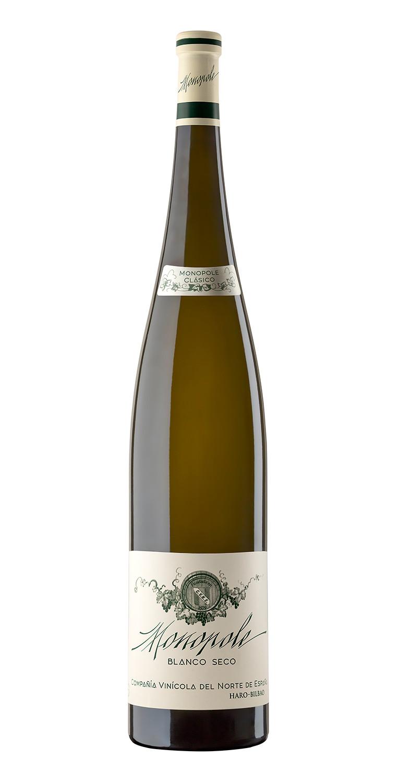 Botella del vino blanco Monopole Clásico 2014 Mágnum