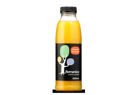 Zumo naranja y mango