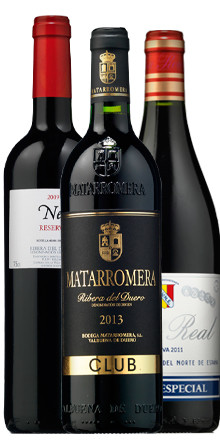 neo reserva 2009 - matarromera club 2013 - viña real cuvee especial 2011