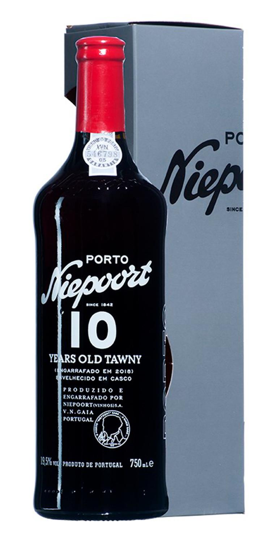 Botella y estuche del Oporto Nieeport 10 Years Old Tawny