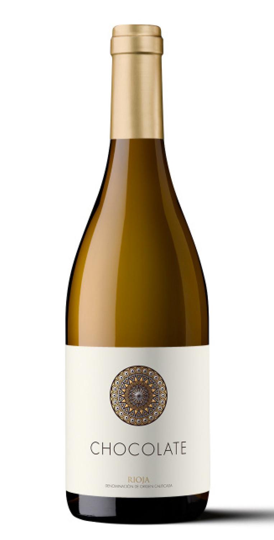 Botella del vino blanco Orben Chocolate Nº2