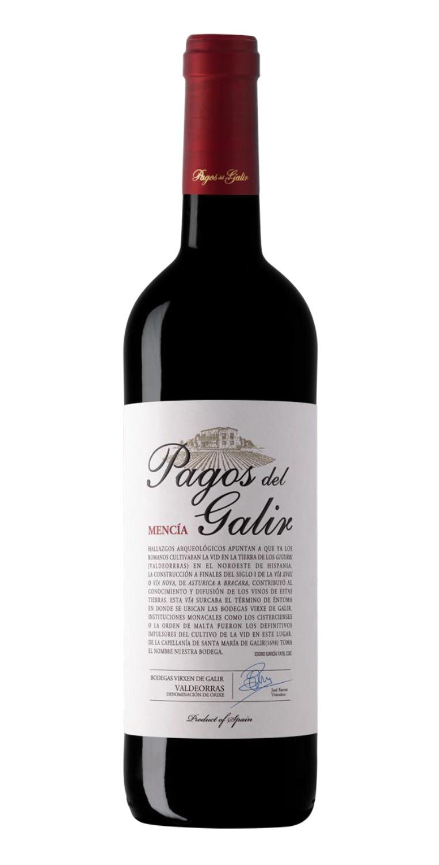 Botella del vino tinto Pagos del Galir Mencía 2017