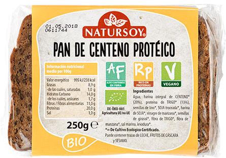 Pan de centeno protéico vegano-eco Natursoy