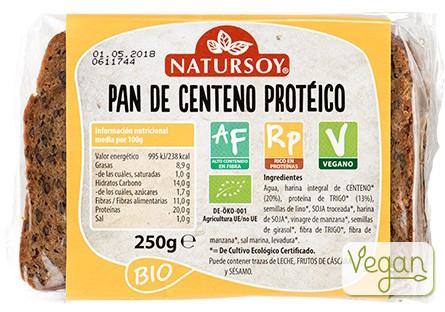 Pan de centeno proteico - VEGANO – ECO