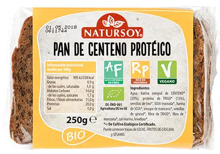 Pan de centeno protéico - VEGANO – ECO