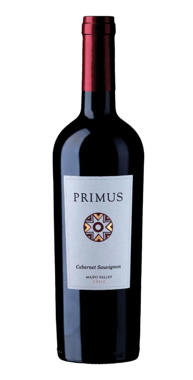 Botella del vino tinto Primus Cabernet Sauvignon 2019
