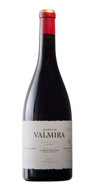 Botella del vino tinto Quiñón de Valmira 2018