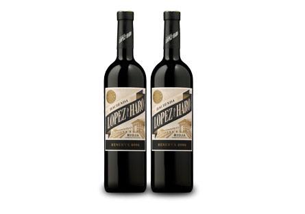 Dos botellas de López de Haro Reserva 2006