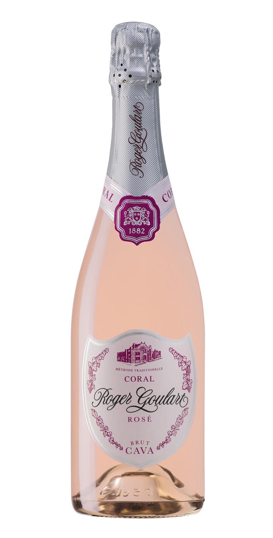 Botella del cava rosado Roger Goulart Coral Rosé Brut 2018