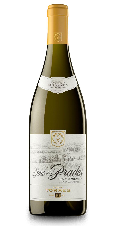 Botella del vino blanco Sons de Prades 2018