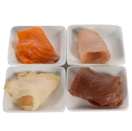 Surtido de ahumados (bacalao, atún, pez espada y trucha)