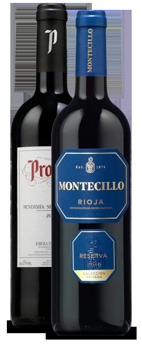 Protos Vendimia Seleccionada 2015 y Montecillo Colección Privada 2010
