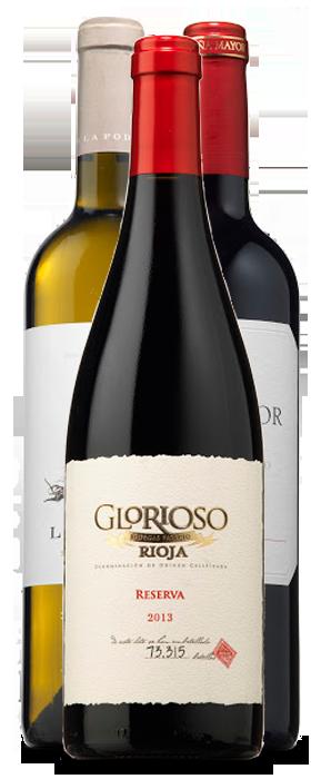 Glorioso Reserva 2013, Viña Mayor Crianza 2014 y La Poda Sauvignon Blanc 2016