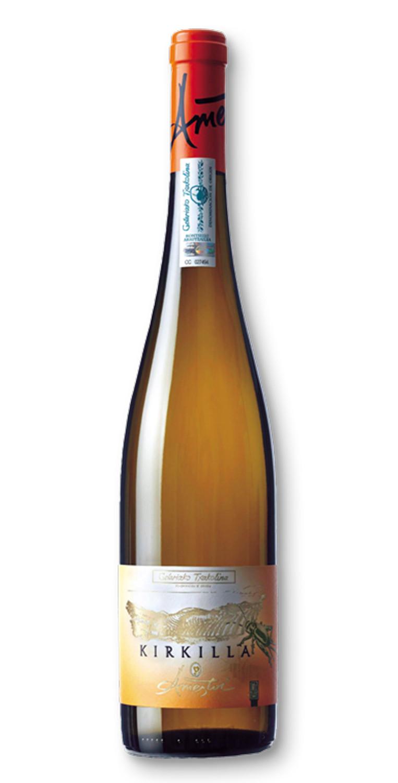 Botella del vino blanco Txakoli Ameztoi Kirkilla 2017