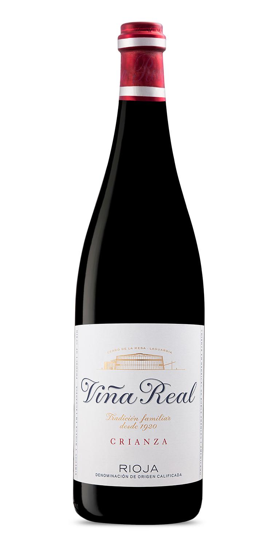 Botella del vino tinto Viña Real Crianza 2017 Mágnum