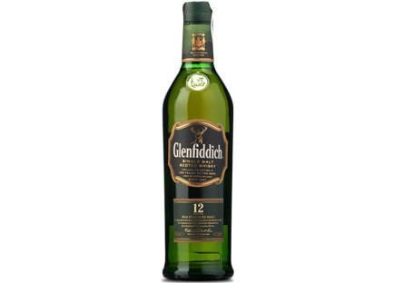 Whisky Single Malt Glenfiddich 12 Años