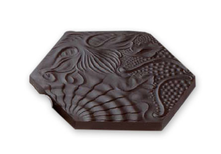 Hexágono Gaudí chocolate negro 70% con frutos secos
