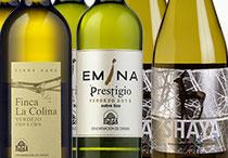 Colección de vinos blancos