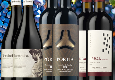 Colección de vinos de Ribera del Duero