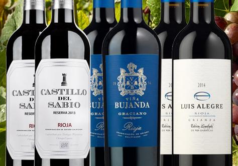 Colección de vinos de Rioja