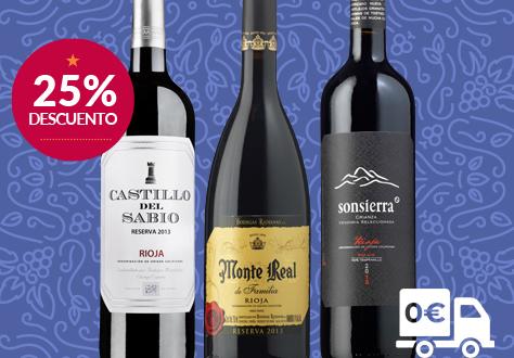 Colección de vinos de Rioja Reserva